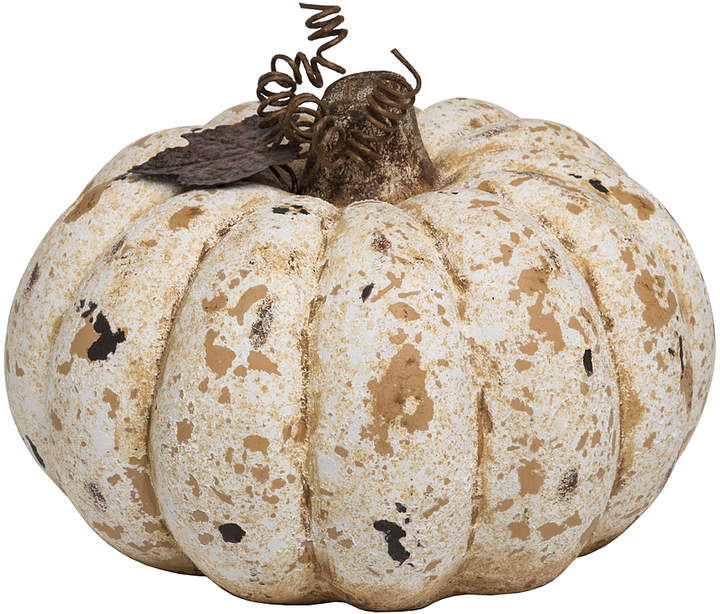 Cream & Tan Speckle Pumpkin Decor
