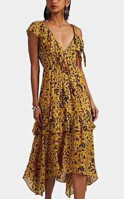 212b06d499a7 Ulla Johnson Women s Dania Floral Silk-Blend Midi-Dress - Yellow