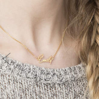 Anna Lou of London Tiny Name Necklace
