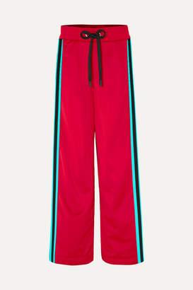 NO KA 'OI NO KA'OI - Kai Kao Striped Satin-jersey Track Pants - Claret