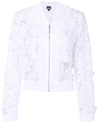 Just Cavalli lace bomber jacket