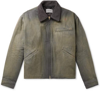 Fear Of God Suede-Trimmed Cotton-Canvas Jacket - Men - Green