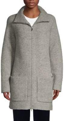 Lafayette 148 New York Virgin Wool-Blend Zip Sweater Coat