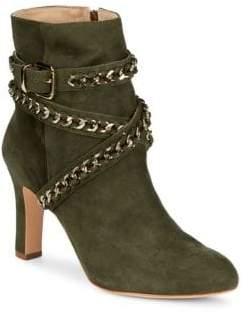 Schutz Izzy Ankle Wrap Suede Boots