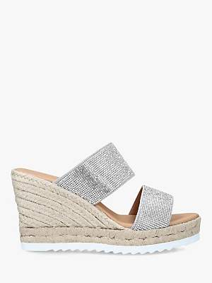 Carvela Klear Woven Wedge Suede Sandals