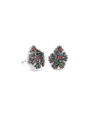 Kendra Scott Tessa Silver Stud Earrings in Multicolor Drusy