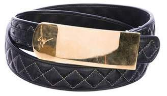 Giuseppe Zanotti Plated Leather Belt