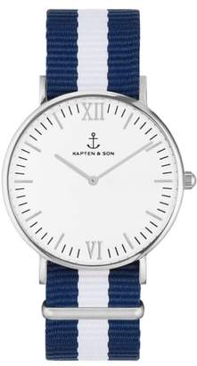 KAPTEN & SON Campina Nylon Strap Watch, 36mm
