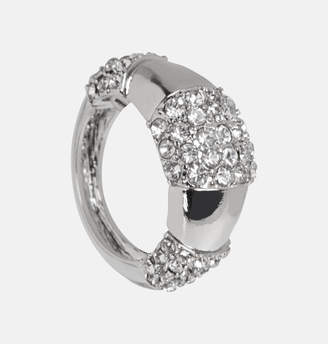 Avenue Silver Diamond Oval Ring