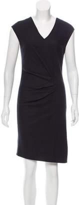 Halston Sleeveless Wool Dress