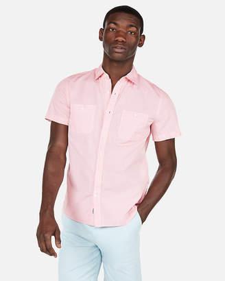 Express Solid Short Sleeve Shirt