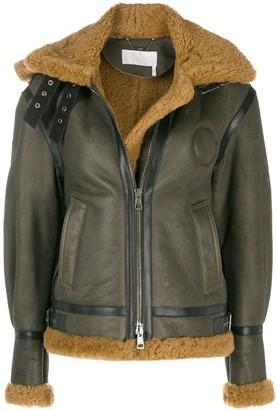 Chloé shearling aviator coat