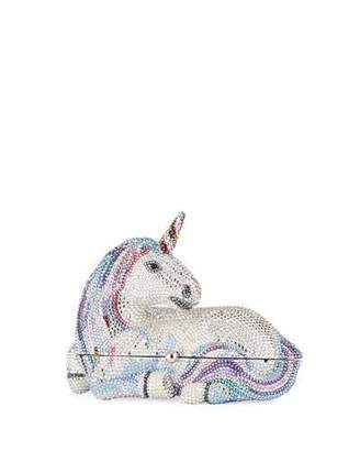 Judith Leiber Couture Unicorn Crystal Clutch Bag