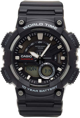 Casio Mens Black Strap Watch-Aeq110w-1av