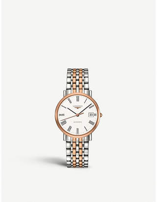 Longines L4.809.5.11.7 Elegant collection 18ct rose gold and stainless steel watch