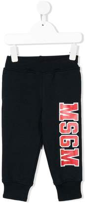 MSGM Kids logo print track pants
