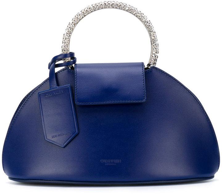 Calvin Klein metal handle clutch bag