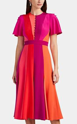 Prabal Gurung Women's Colorblocked Silk Midi-Dress - Red Multi