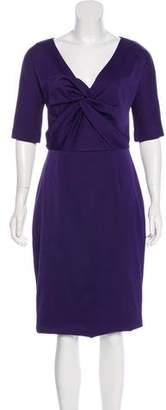 Lela Rose Half Sleeve Midi Dress