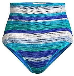 All Things Mochi Women's Jamie Crochet Striped Bikini Bottom