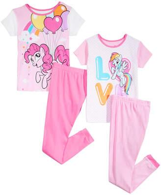 My Little Pony Ame Little & Big Girls 4-Pc. Cotton Pajama Set