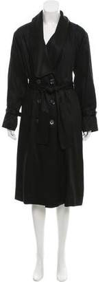 Laundry by Shelli Segal Double-Breasted Long Coat