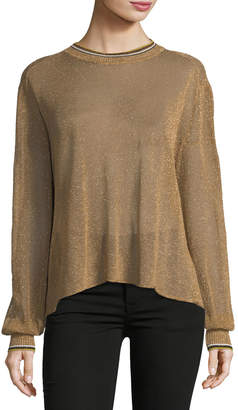 Giada Forte Crewneck Lurex Oversized Sweater