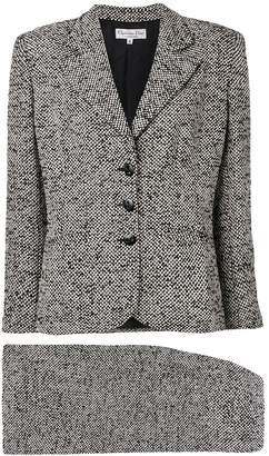 Christian Dior Pre-Owned 1990's tweed woven skirt suit