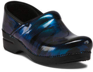 Comfort Slip On Patent Leather Clogs
