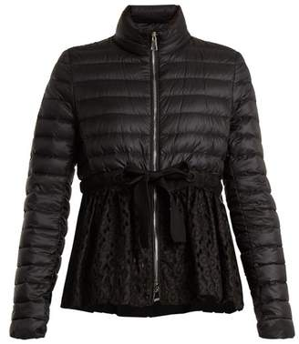 Moncler Serpentine Quilted Down Embroidered Jacket - Womens - Black