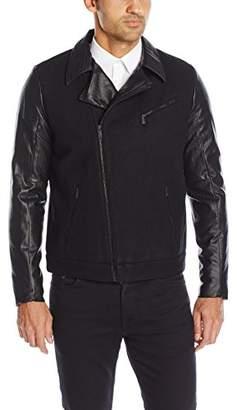Calvin Klein Men's Mix Media Moto Jacket
