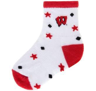 """NCAA Mojo Wisconsin Badgers """"I'm a Star"""" Cushioned Crew Socks - Baby"""