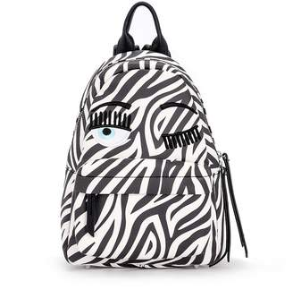 Chiara Ferragni Flirting Vegan Zebra Leather Backpack