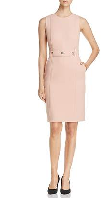 BOSS Duleama Grommet-Belt Sheath Dress