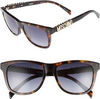Moschino Basic 53mm Polarized Sunglasses
