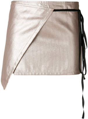 Ann Demeulemeester wrap-around mini skirt