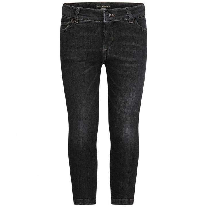 Dolce & GabbanaBoys Faded Grey Denim Jeans