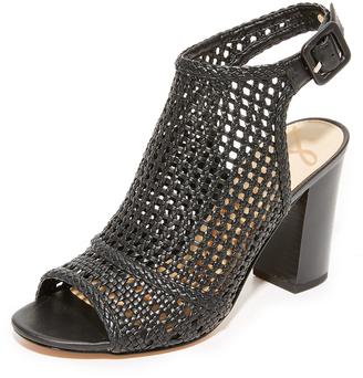 Sam Edelman Evie Woven Peep Toe Booties $140 thestylecure.com