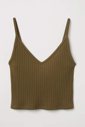 H&M Short Jersey Camisole Top - Green