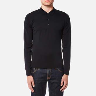 John Smedley Men's Belper 30 Gauge Merino Long Sleeve Polo Shirt