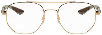 Ray-Ban Gold RB8418 Aviator Glasses
