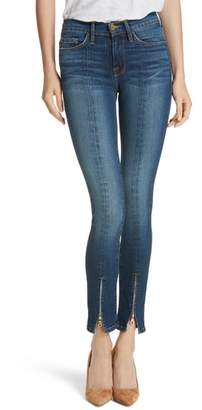Frame Le Skinny de Jeanne High Waist Zip Hem Skinny Jeans