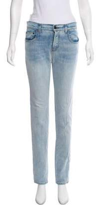 Proenza Schouler Mid-Rise Straight-Leg Jeans