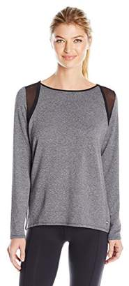 Calvin Klein Women's Long Sleeve Tee with Mesh Inserts