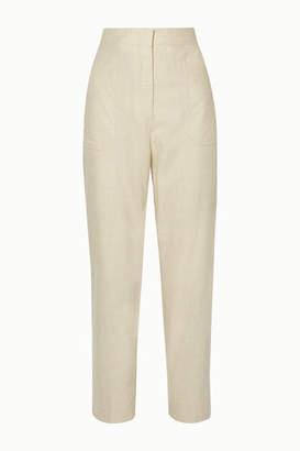 Fendi Wool-blend Straight-leg Pants - Ivory