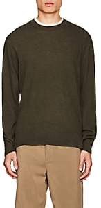 Officine Generale Men's Cashmere Crewneck Sweater - Olive