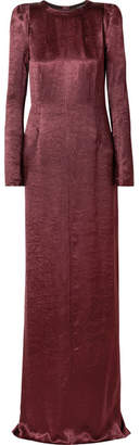 Ann Demeulemeester Washed-satin Maxi Dress - Burgundy