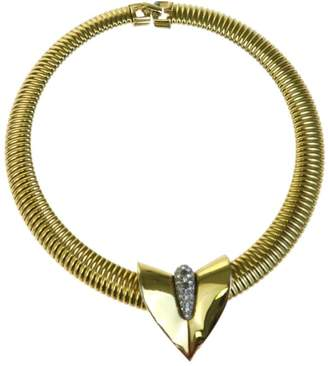 Gold Tone Hardware and Rhinestone Choker Necklace