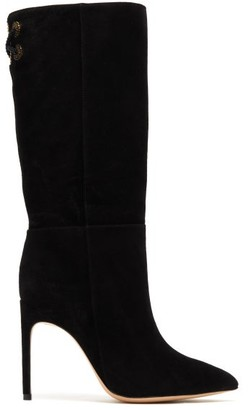 Sophia Webster Candice Slouchy Suede Boots - Womens - Black