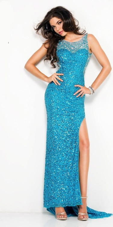 SCALA - 48552 Dress in Bright Turquoise